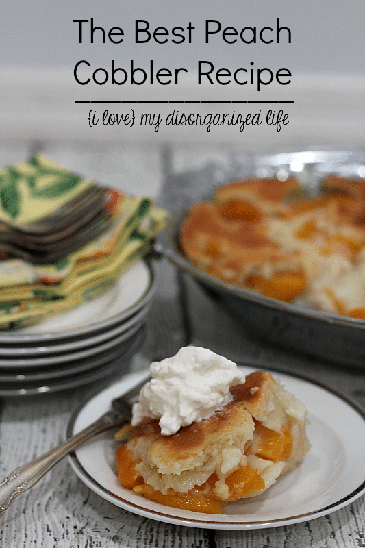 The best peach cobbler recipe makes a moist, slightly sweet, and easy to make dessert. Top it with whipped cream, and you've got the perfect dish.