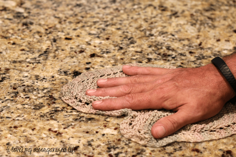Get your kitchen counter tops sparkling clean with Rock-It Oil Stone Cleaner!