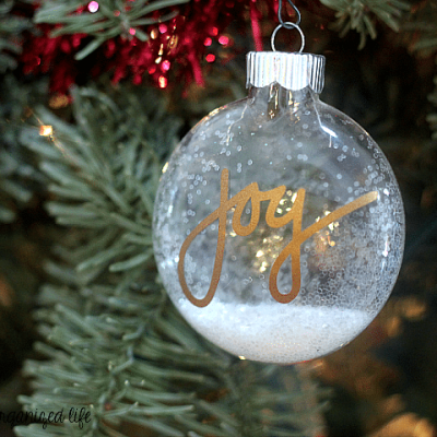 Easy JOY Glitter Tree Ornament