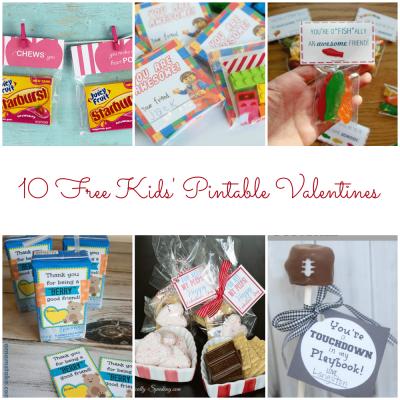10 Free Kids' Printable Valentines