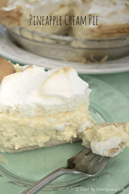 Pineapple Cream Pie | {i love} my disorganized life