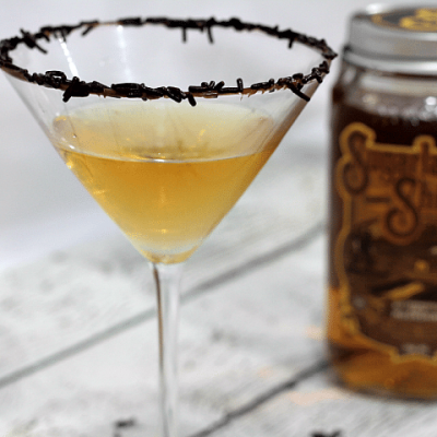Chocolate Butterscotch Gold Dessert Martini