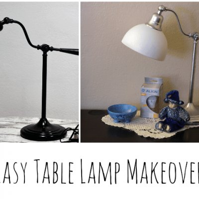 Easy Table Lamp Makeover