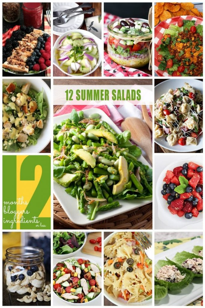 12 fresh and delicious summer salads from 12 of your favorite bloggers!
