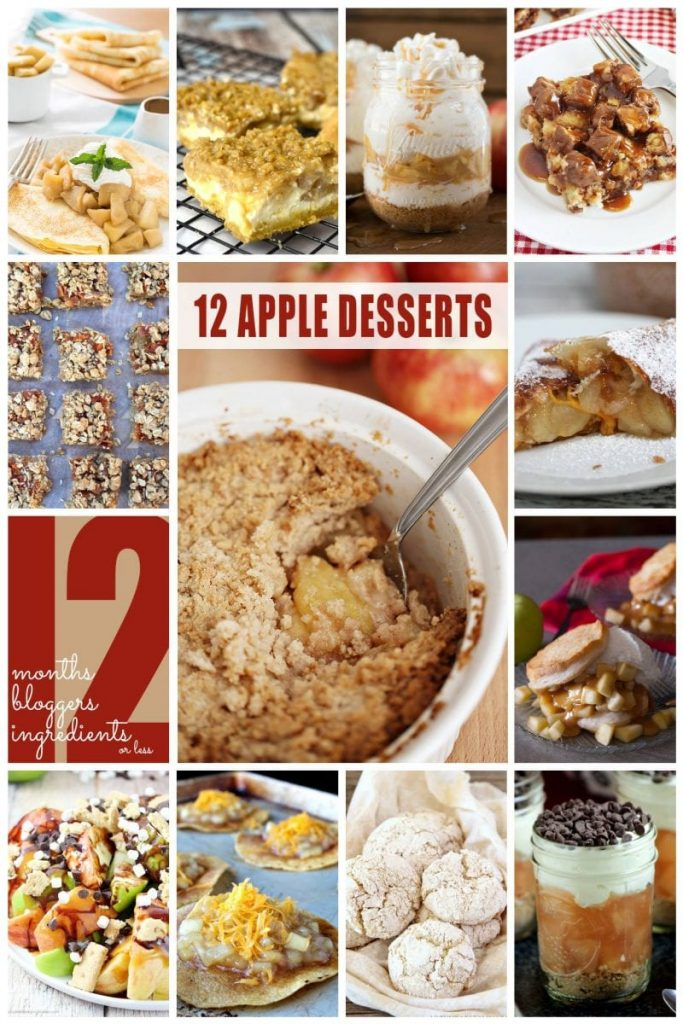 12 Apple Desserts #12bloggers | {i love} my disorganized life