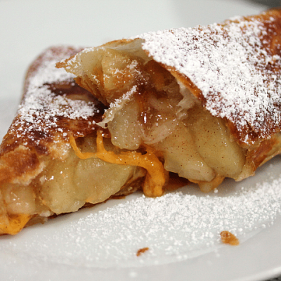 Apple Pie Chimi with Cheddar Cheese