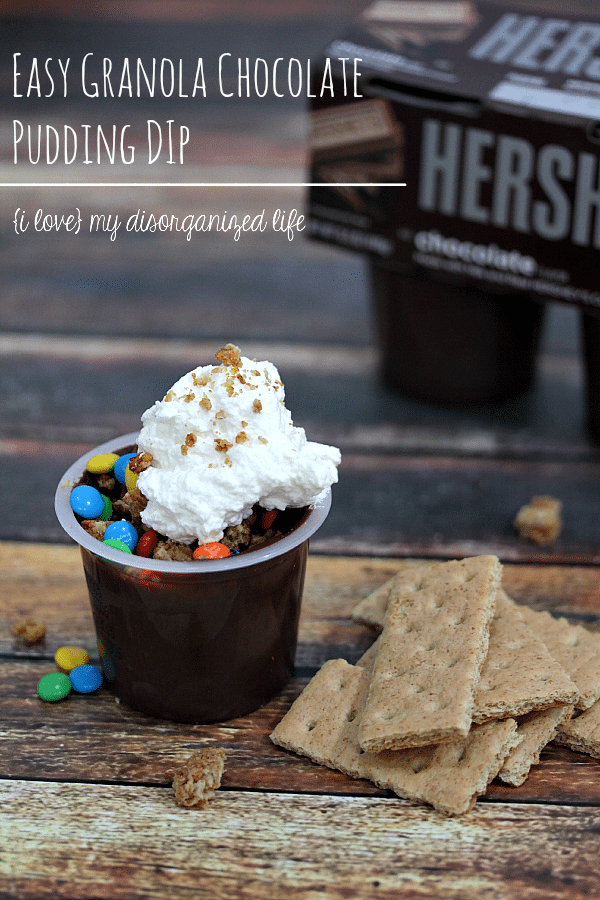 Need a quick snack to hold them over 'til dinner? This easy chocolate pudding dip will keep them {and you} satisfied until it's time to eat!