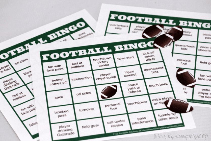 Football bingo cards