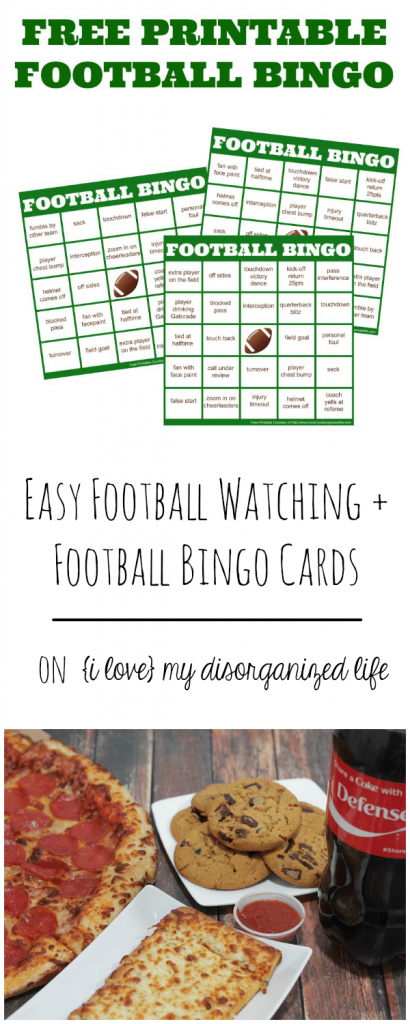 Football bingo is a fun, interactive game to play as you cheer on your favorite football team. These free printable football bingo cards will be the hit of your football party!