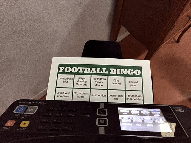 Easy Football Watching + Football Bingo Cards | {i love} my disorganized life