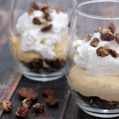 No Bake Pumpkin Cheesecake Parfait