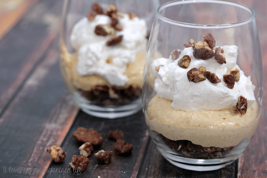 These easy-to-make no bake pumpkin cheesecake parfaits are the perfect ending to a any delicious meal! Made with real pumpkin and homemade whipped cream, your family and friends will love them!