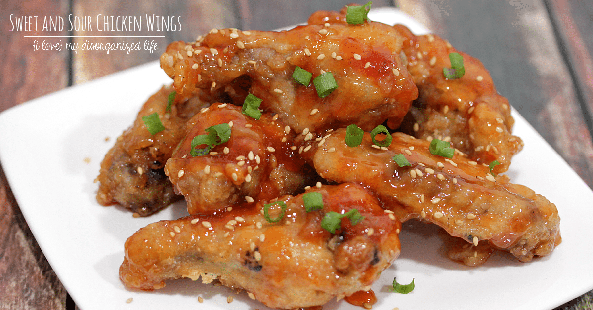Sweet and sour chicken wings are perfect for satisfying your Chinese food cravings! Dip in hot mustard to complete the delicious appetizer!