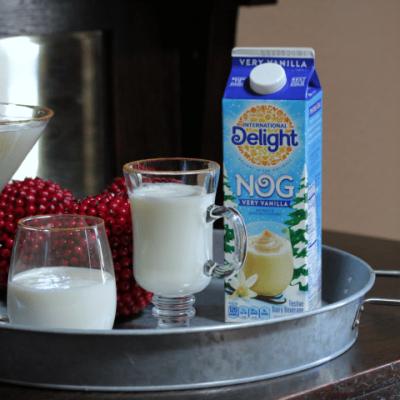 Easy Cinnamon Vanilla Eggnog Cocktail