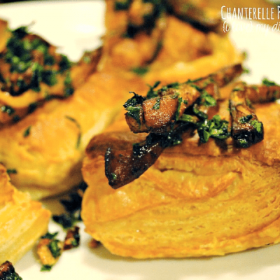 Chanterelle Puff Pastry Bites