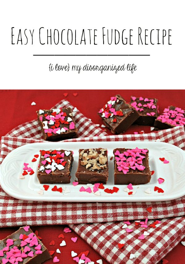 This easy chocolate fudge recipe is smooth & creamy and melts in your mouth!