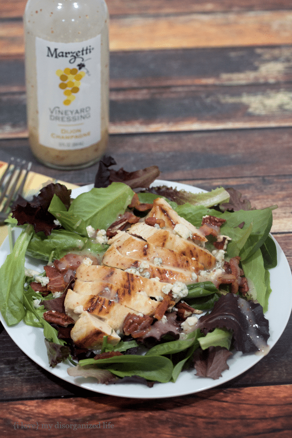 Savory cracked brown mustard seed, garlic and onion meet for a crisp, fresh finish in this dijon champagne bacon chicken salad.