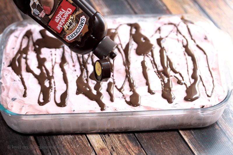 This easy to make ice cream cake is loaded with creamy cherry flavor. chocolate bits and rich devil's food cake!
