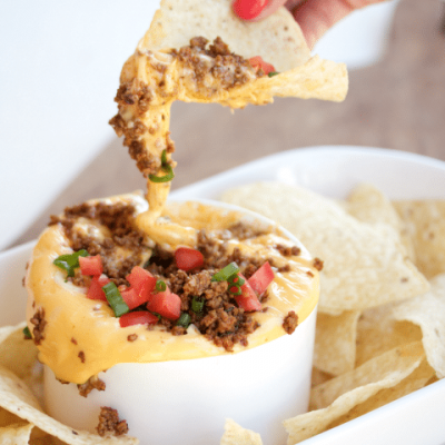 Cheesy Ground Beef Taco Dip