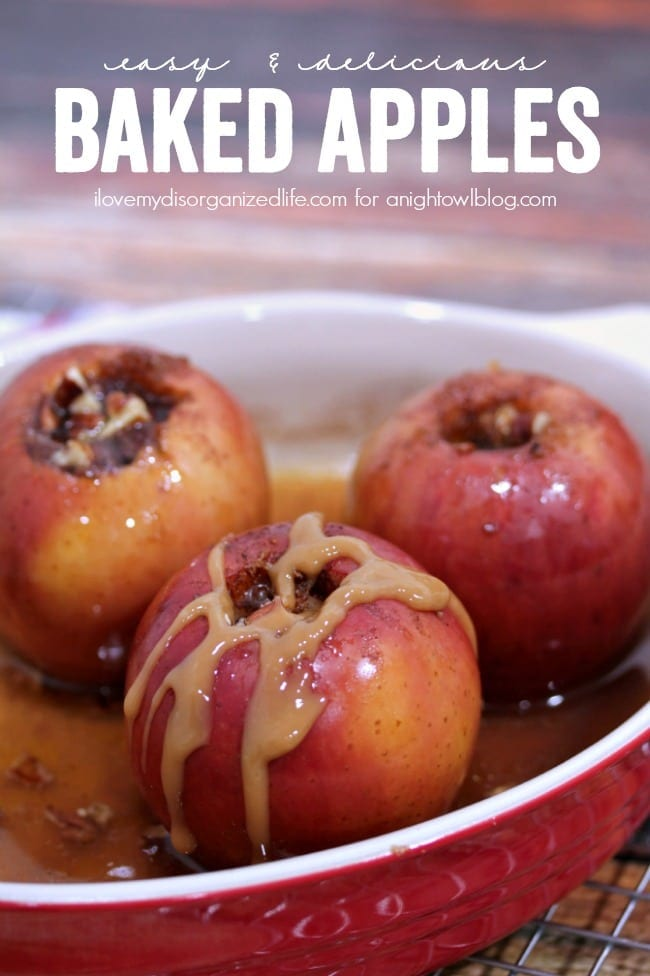 Brown sugar, butter and three spices make this Easy Baked Apple Recipe perfect for cooler fall weather!