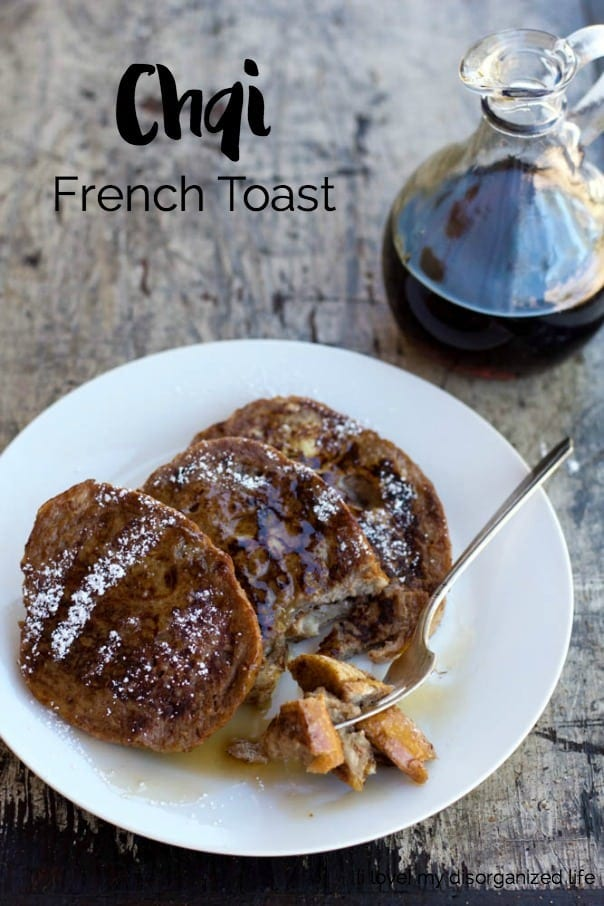 Chai french toast is a delicious combination of cardamom, cinnamon, & ginger. The creamy batter makes this breakfast amazingly tender.