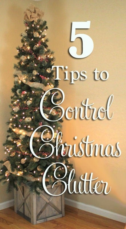 Foolproof ideas for organizing your Christmas clutter!