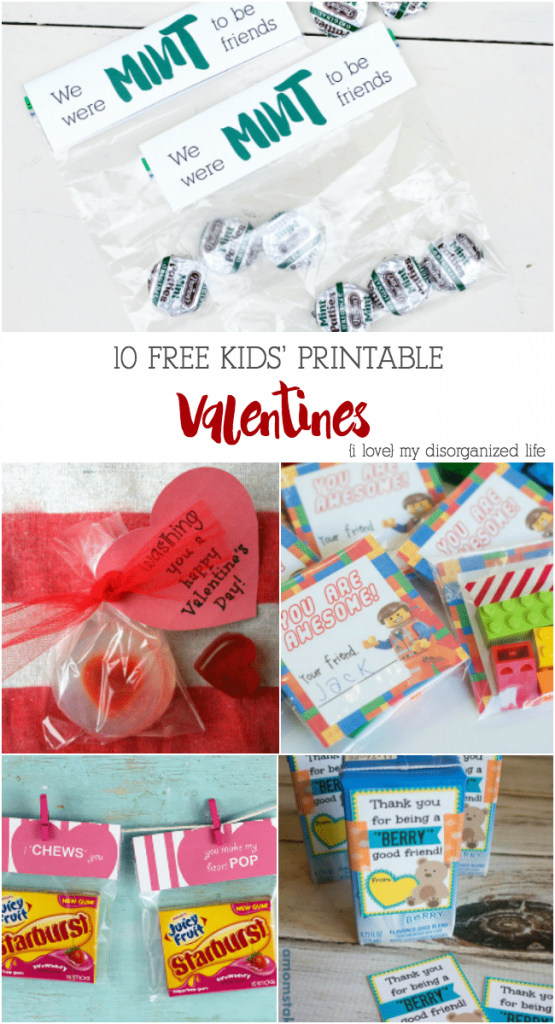 10 Free Kids' Printable Valentines | {i love} my disorganized life