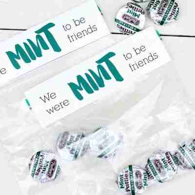 Treat Bag Topper – Mint to be Friends