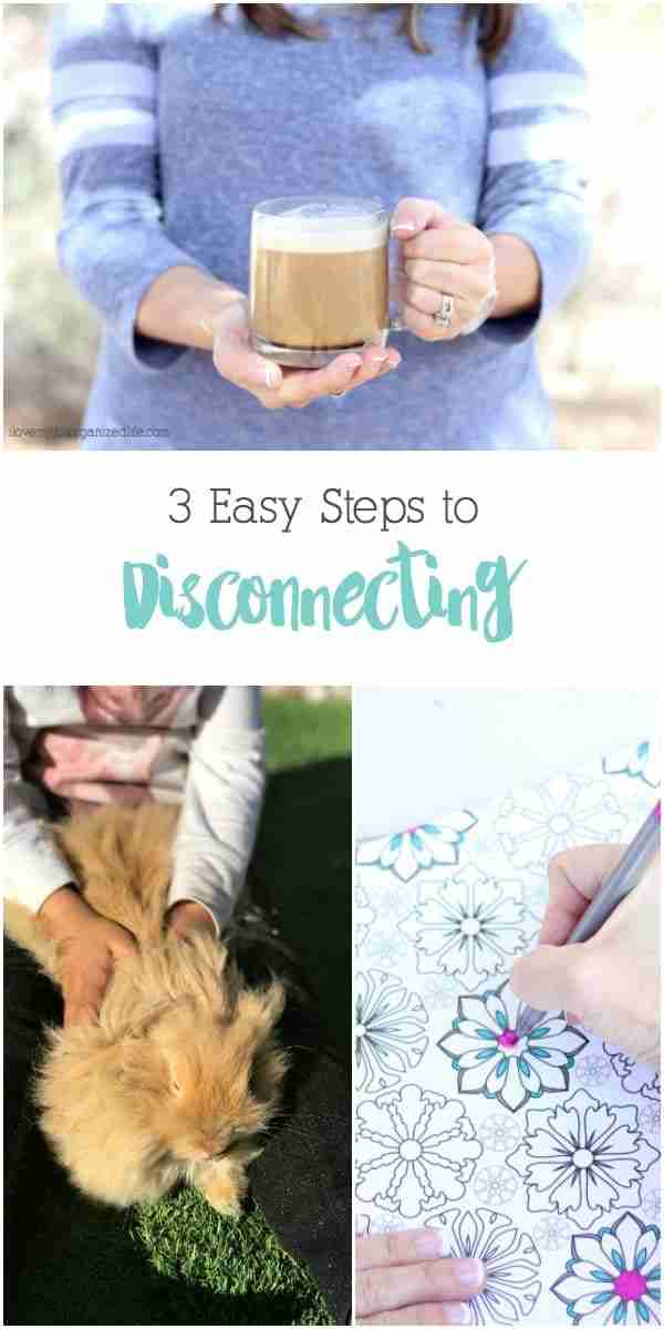 Disconnecting is more important than ever these days. It's nearly impossible to escape technology anymore. I'll show you how to disconnect in 3 easy steps.