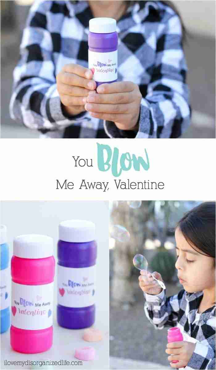 You blow me away Valentine - what a fun way to celebrate a day of love and friendship? Everyone loves bubbles, so giving them as a Valentine makes perfect sense, right?