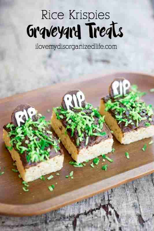 Rice Krispies Graveyard Treats are quick and easy to make, perfect for creating with your favorite little ghouls! No baking or cooking, just pure fun!