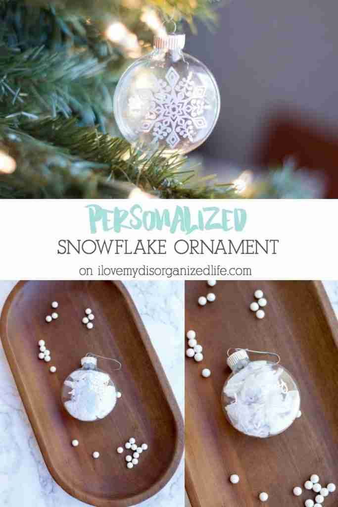 A personalized snowflake ornament is an easy way to decorate your tree or even top a gift. Start with a ready to make project and you're half way there!