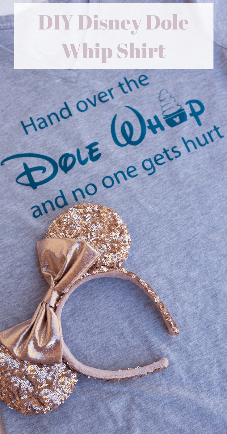 A DIY Disney Dole Whip Shirt is a quick and easy way to make a trip to a Disney park more fun. Plus, it shows off your personal style!