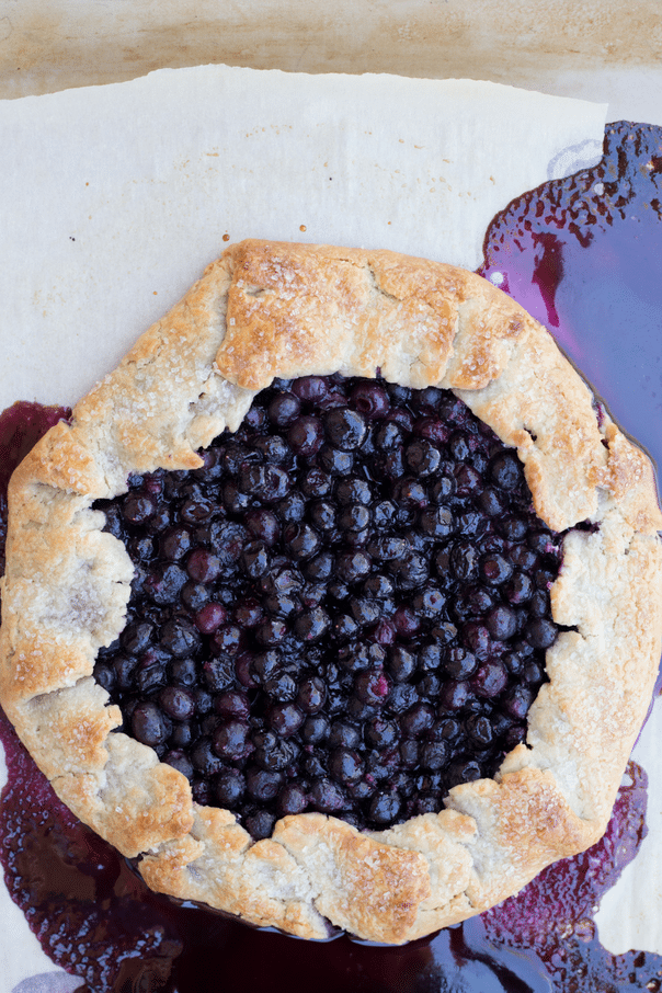 baked blueberry galette