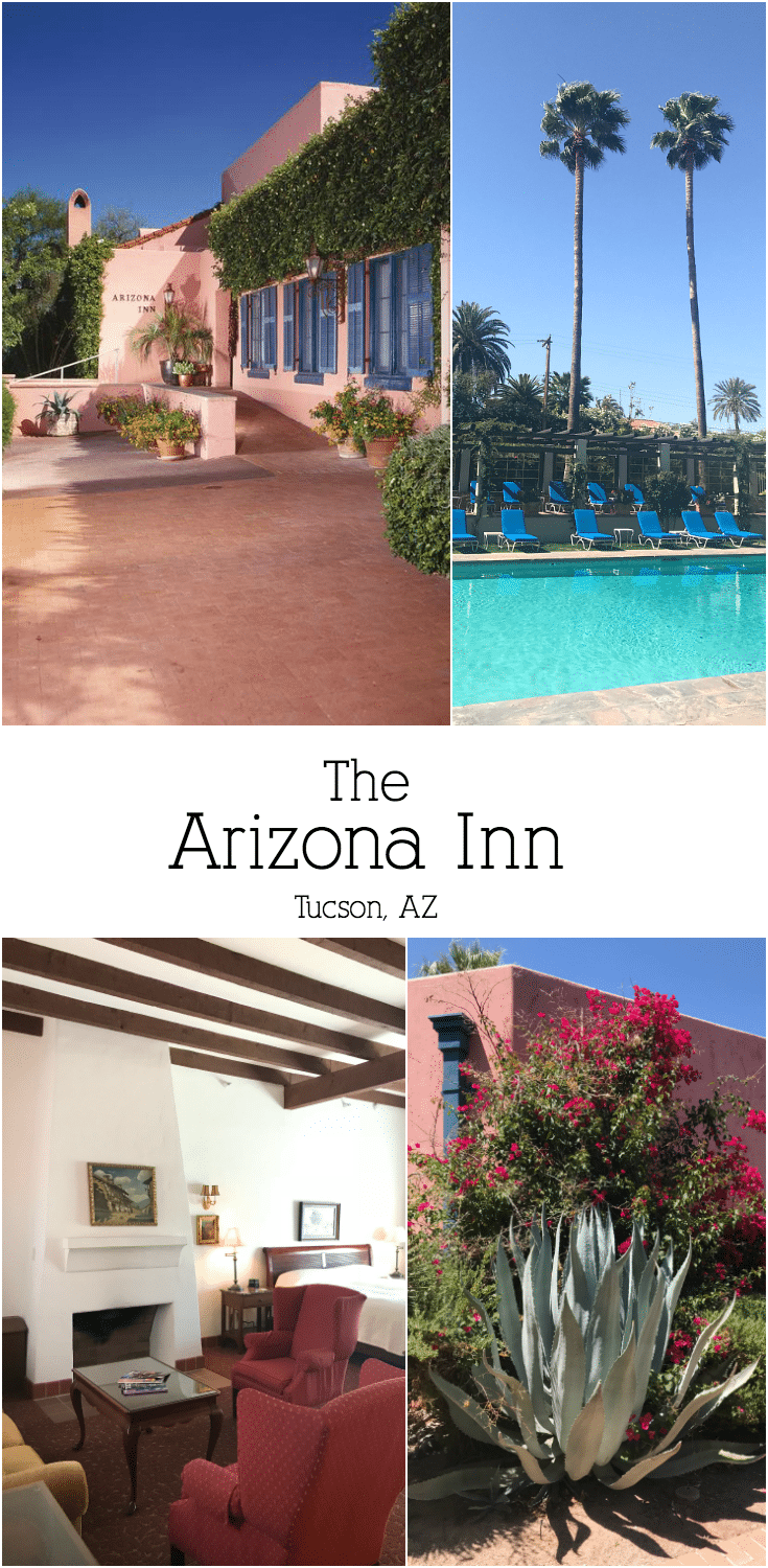 Escape to Historical Arizona Inn Tucson for a magical weekend getaway. Lush desert landscaping, historic architecture, and a stunning sparkling pool await you!