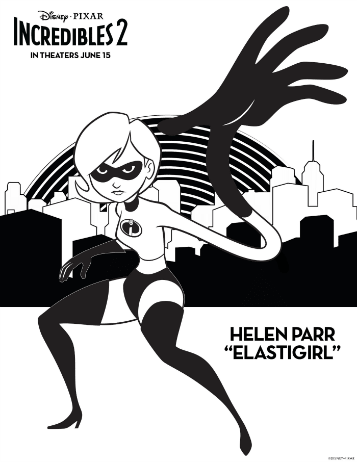Incredibles 2 Coloring Pages Helen