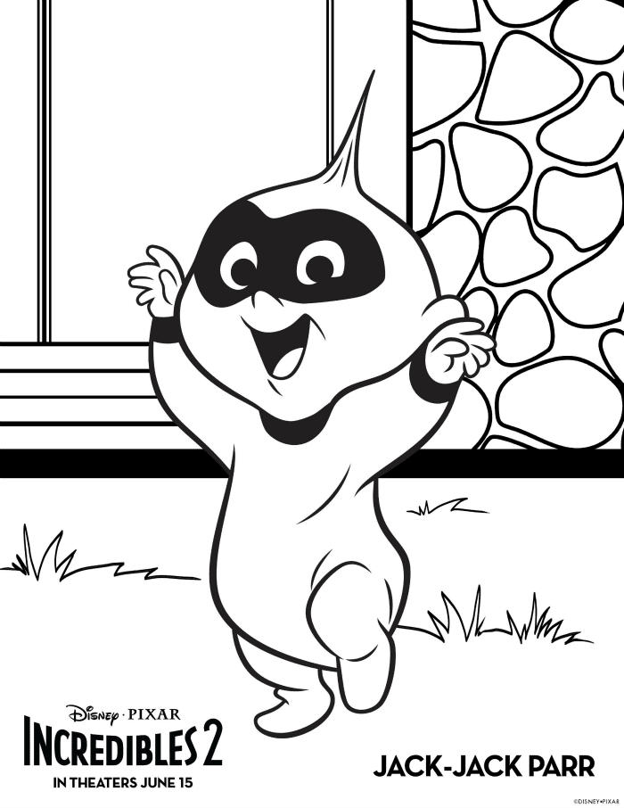 Incredibles 2 Coloring Pages Jack-Jack