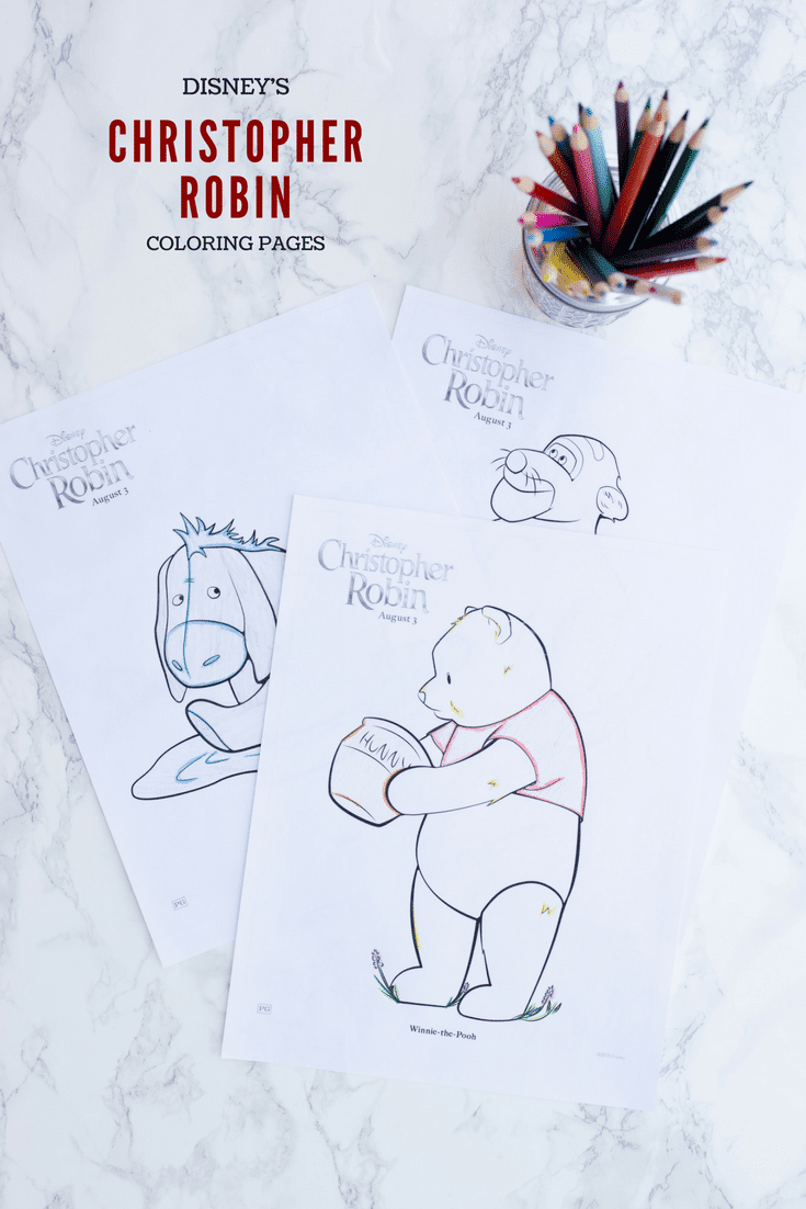 Do you and your kids love Winnie the Pooh and the Hundred Acre Wood? Color up some fun with Christopher Robin coloring pages featuring Pooh and all his friends!