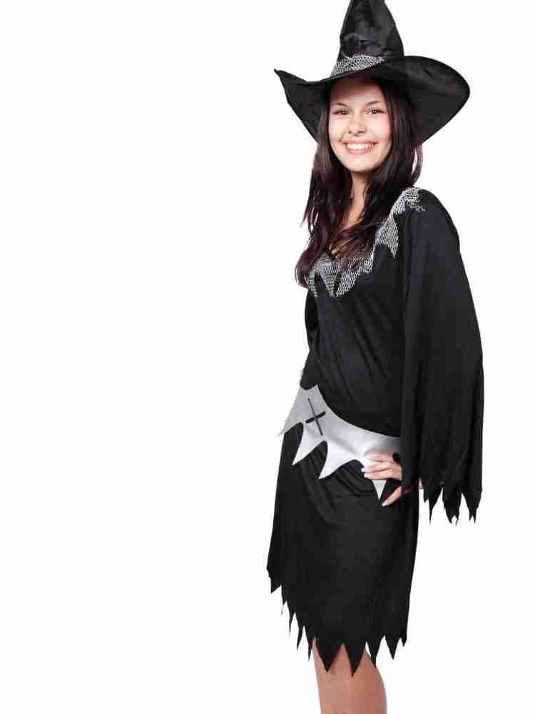 Woman dressed as witch