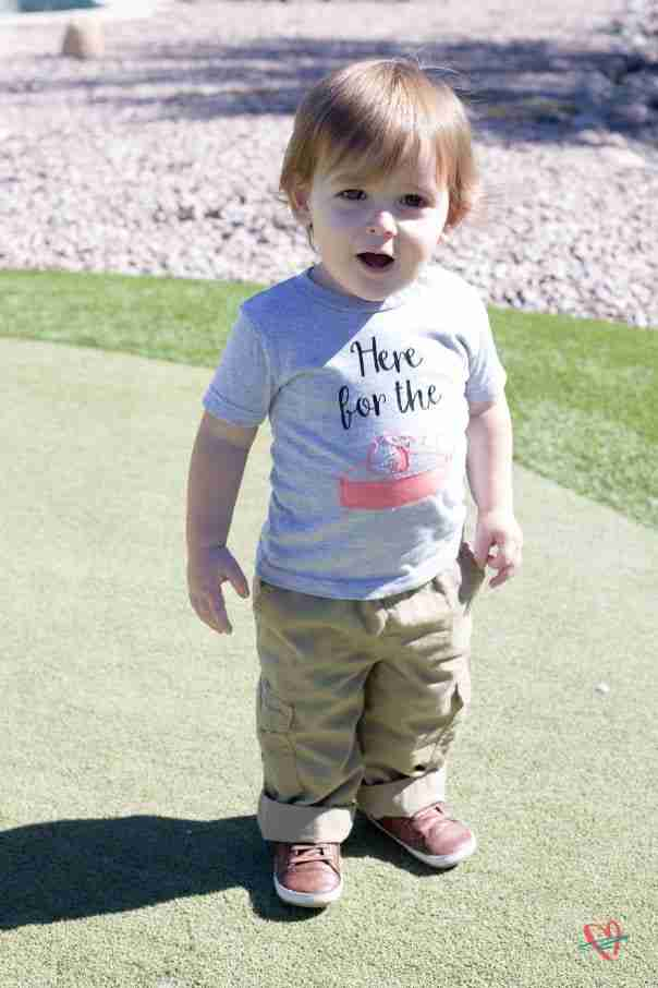 Toddler wearing Thanksgiving tee