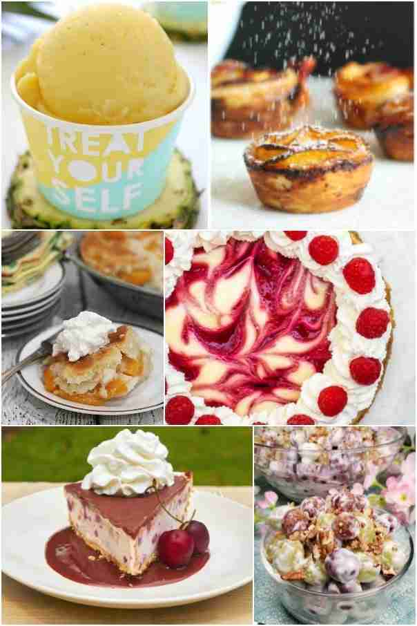 collage of dessert recipes