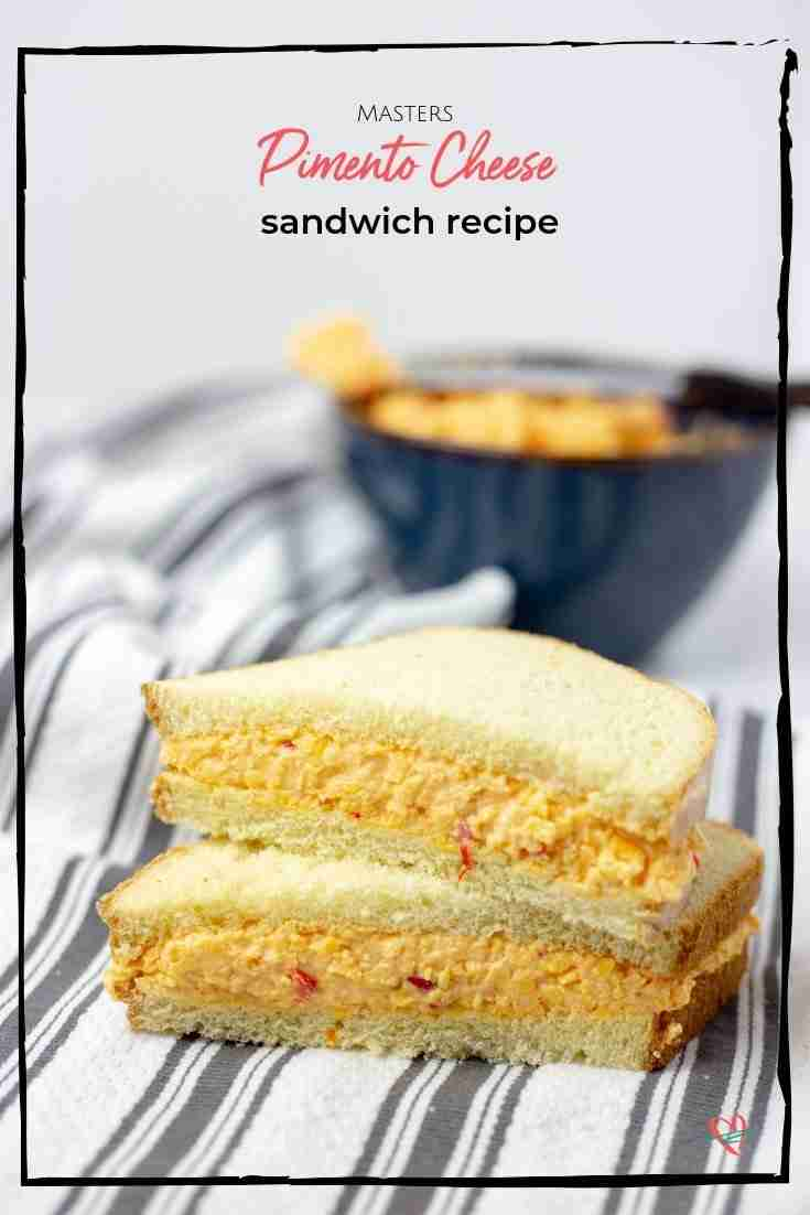 This creamy pimento cheese is as good as the $1.50 sandwich you get at the Masters. A touch of spice is the secret ingredient of this iconic sandwich.