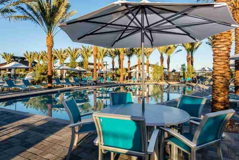 Poolside tables