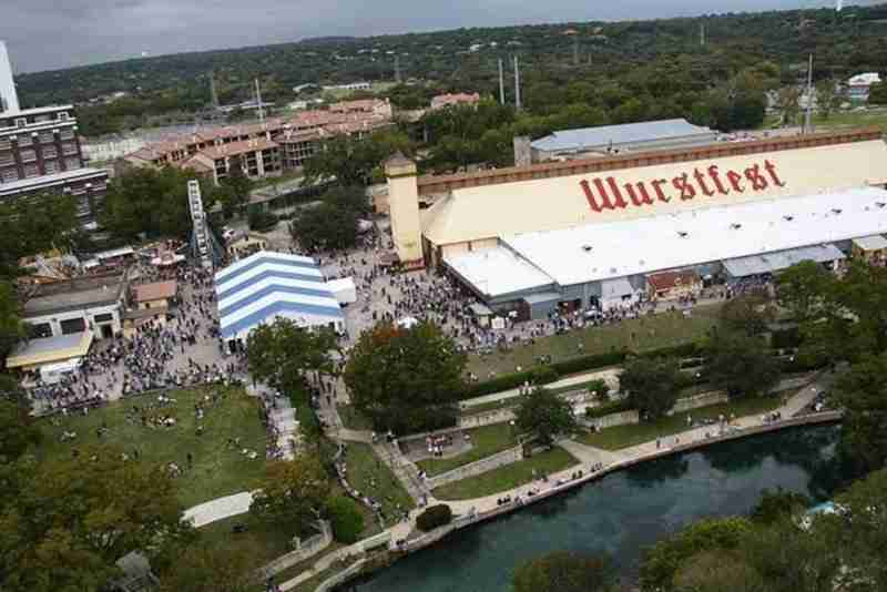 Aerial view of Wurstfest