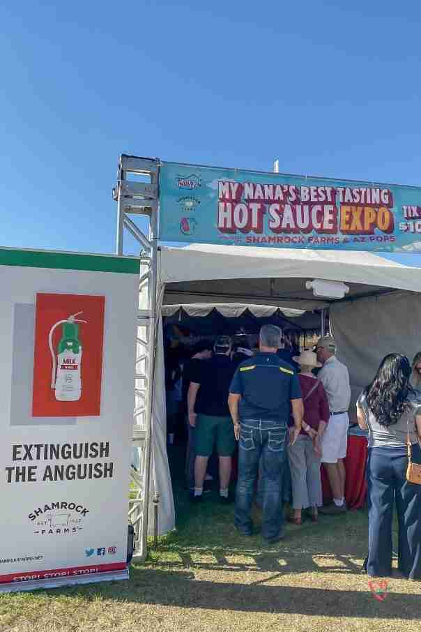 front of hot sauce tent