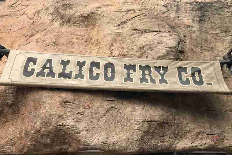 Calico Fry Co sign at Knott's Berry Farm