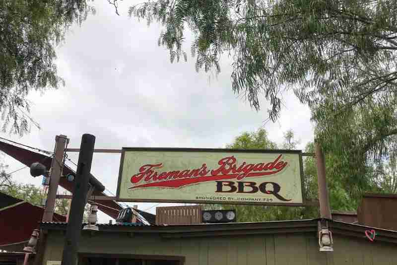 Knott's Berry Farm Fireman's Brigade sign