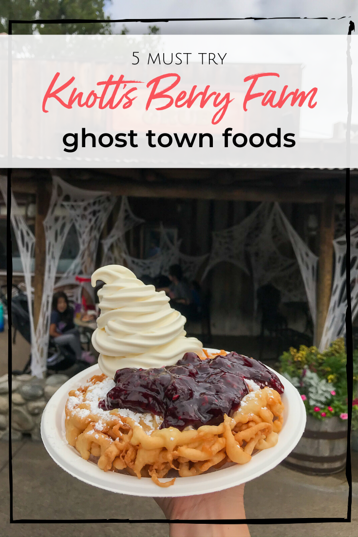If you're headed to Knott's Berry Farm, here are 5 foods you must try from Ghost Town! Whether sweet, savory or spicy, they are all packed with flavor!