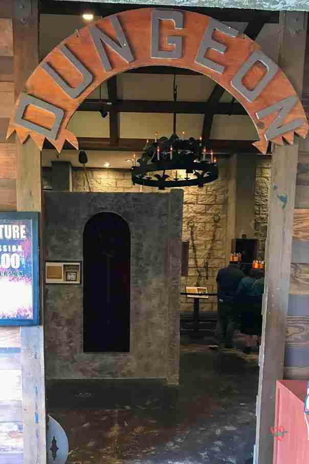 entrance to museum of torture at Medieval Times dinner show