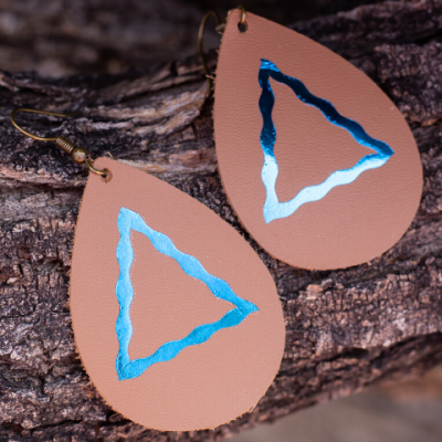 DIY Leather Earrings – Personalized Girl Tribe Earrings Using Cricut Maker
